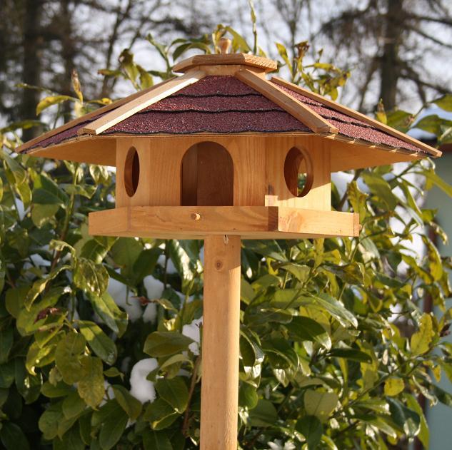 vogelhaus vogelvilla piepmatz inkl st nder xxl 60 cm mit futterreservoir. Black Bedroom Furniture Sets. Home Design Ideas