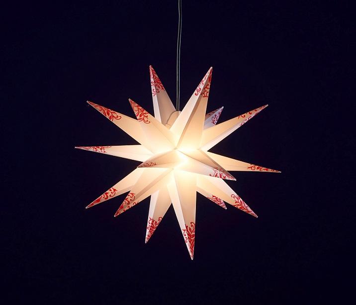 55cm au enstern adventsstern weihnachtsstern faltstern aussenstern stern 3d ebay. Black Bedroom Furniture Sets. Home Design Ideas