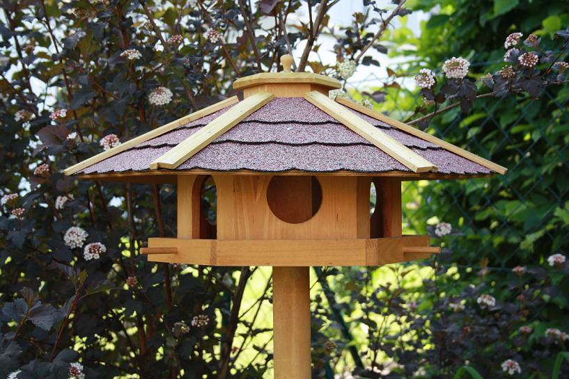 vogelhaus vogelvilla piepmatz inkl st nder xxl 60 cm mit futterreservoir ebay. Black Bedroom Furniture Sets. Home Design Ideas